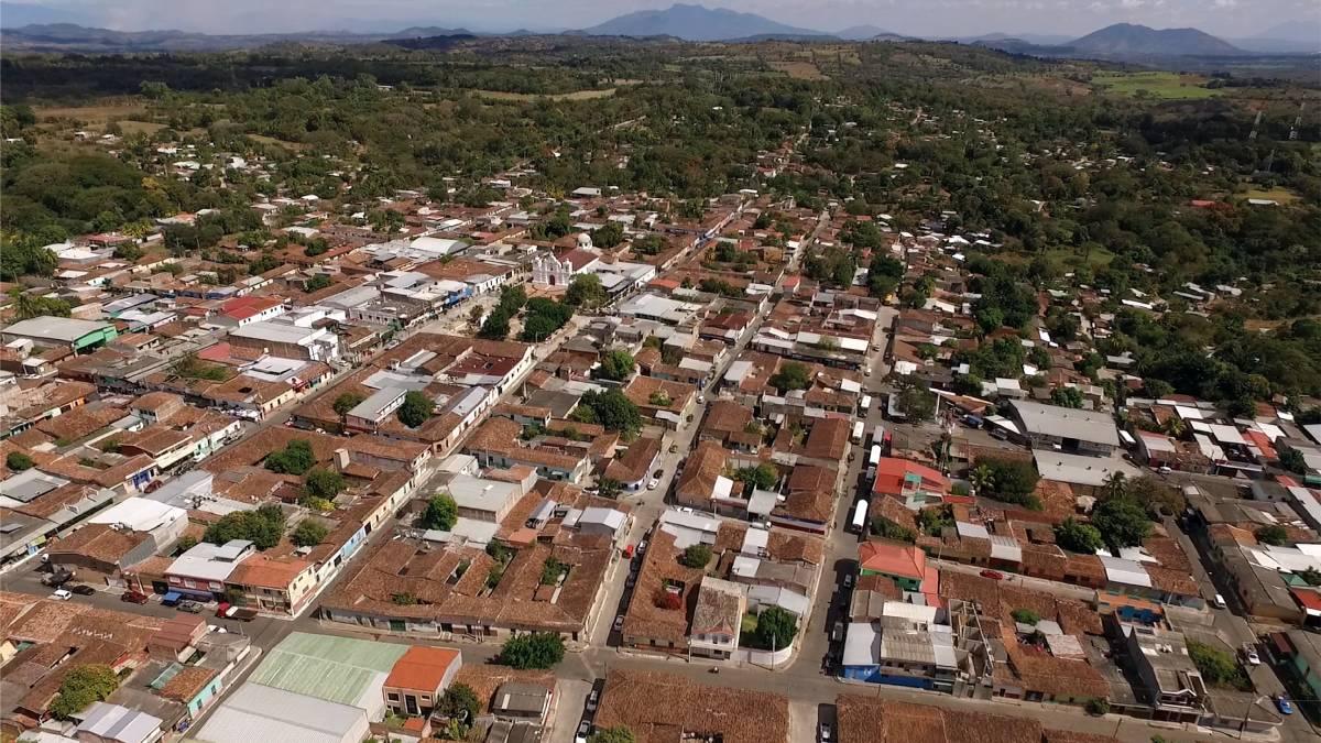 San Juan Opcio vista aérea del pueblo